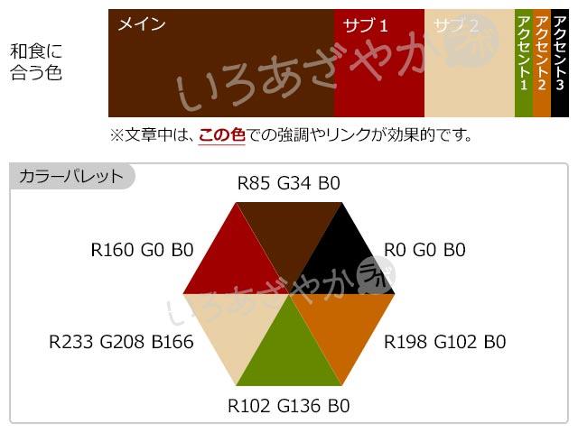 【茶色】「和食」をおいしく表現する配色