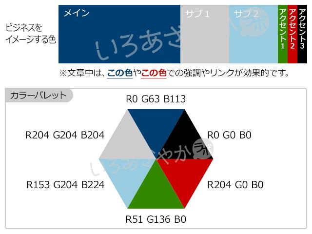 【青】企業やビジネスを表現する配色