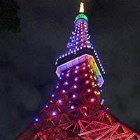 平成から令和に【天皇陛下の即位を祝う「東京タワー」の配色】