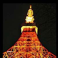 バレンタイン前後のピンクと真っ赤の「東京タワー」