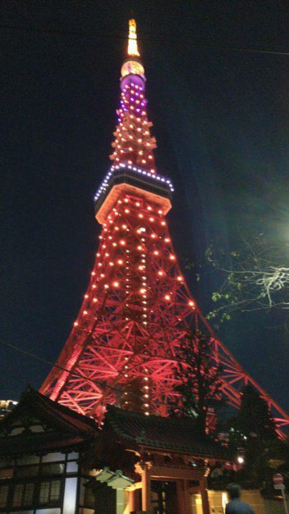 イベントはなかったけど、静かにハロウィーンしてる東京タワーです