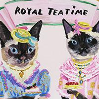 ネコの王様、王女の限定デザインがかわいい「Afternoon Tea」(ナタリー・レテ)