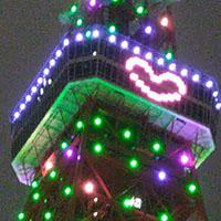 クリスマスカラーの「東京タワー」は、❤ハート付きで可愛い!